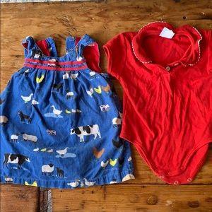 MiniBoden 🐑 🐄 🐖 🦆 Dress & Bella Bliss Onesie
